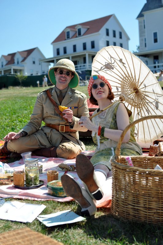 Gatsby Couple on Lawn